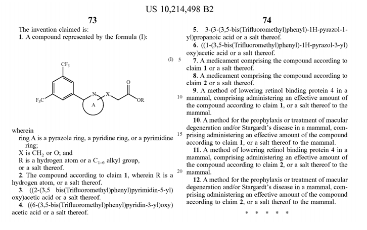 10214918 B2 - Negative Limitations in Pharmaceutical Patents